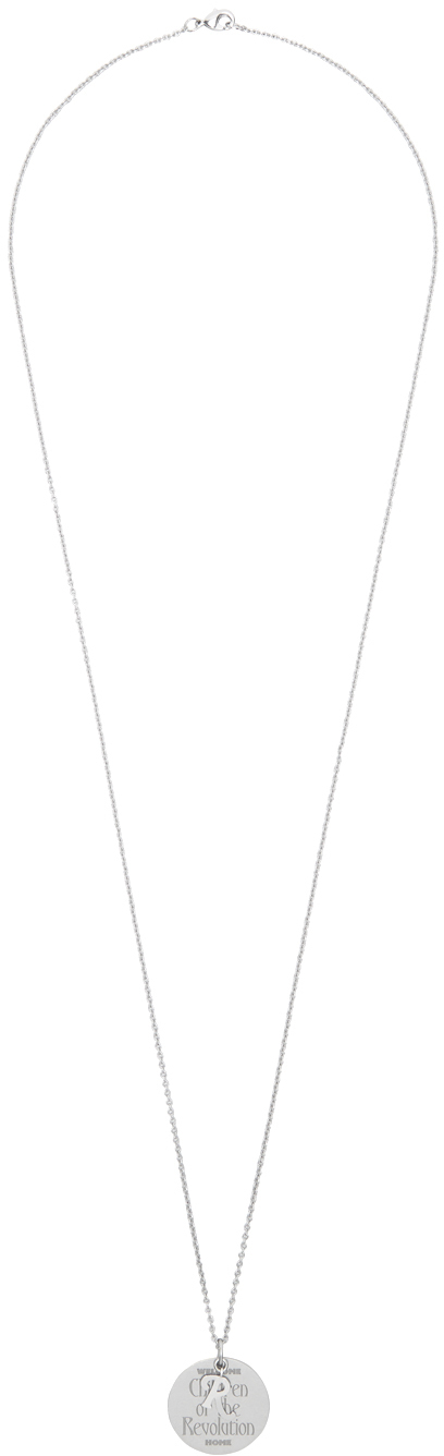 Raf Simons Silver 'Children Of The Revolution' Medallion Necklace