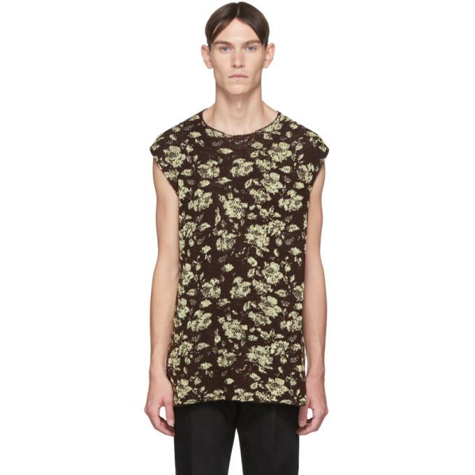 Photo: Jil Sander Brown Knit Wool Vest