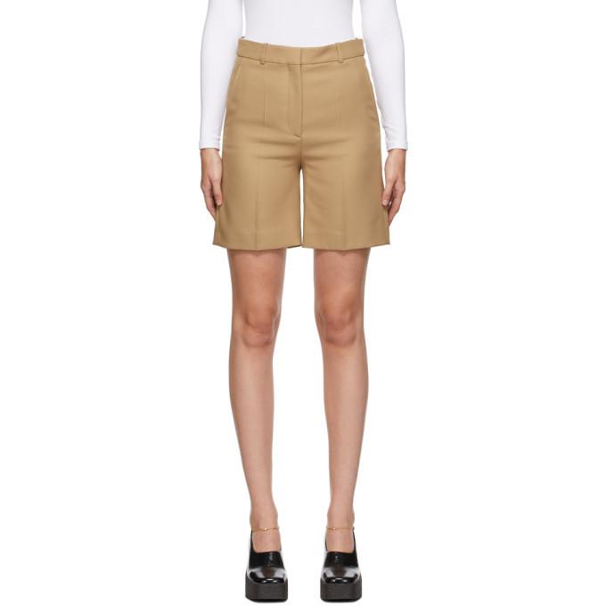 Stella McCartney Tan Amber Tailored Shorts