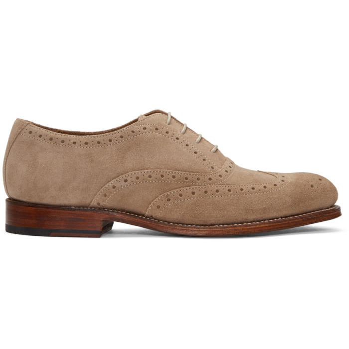 Photo: Grenson Taupe Suede Luther Brogues
