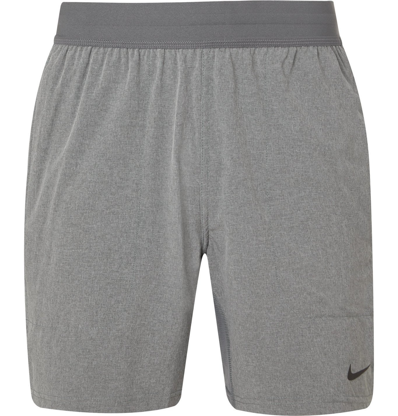 Photo: Nike Training - Flex Mesh-Panelled Stretch-Shell Shorts - Gray