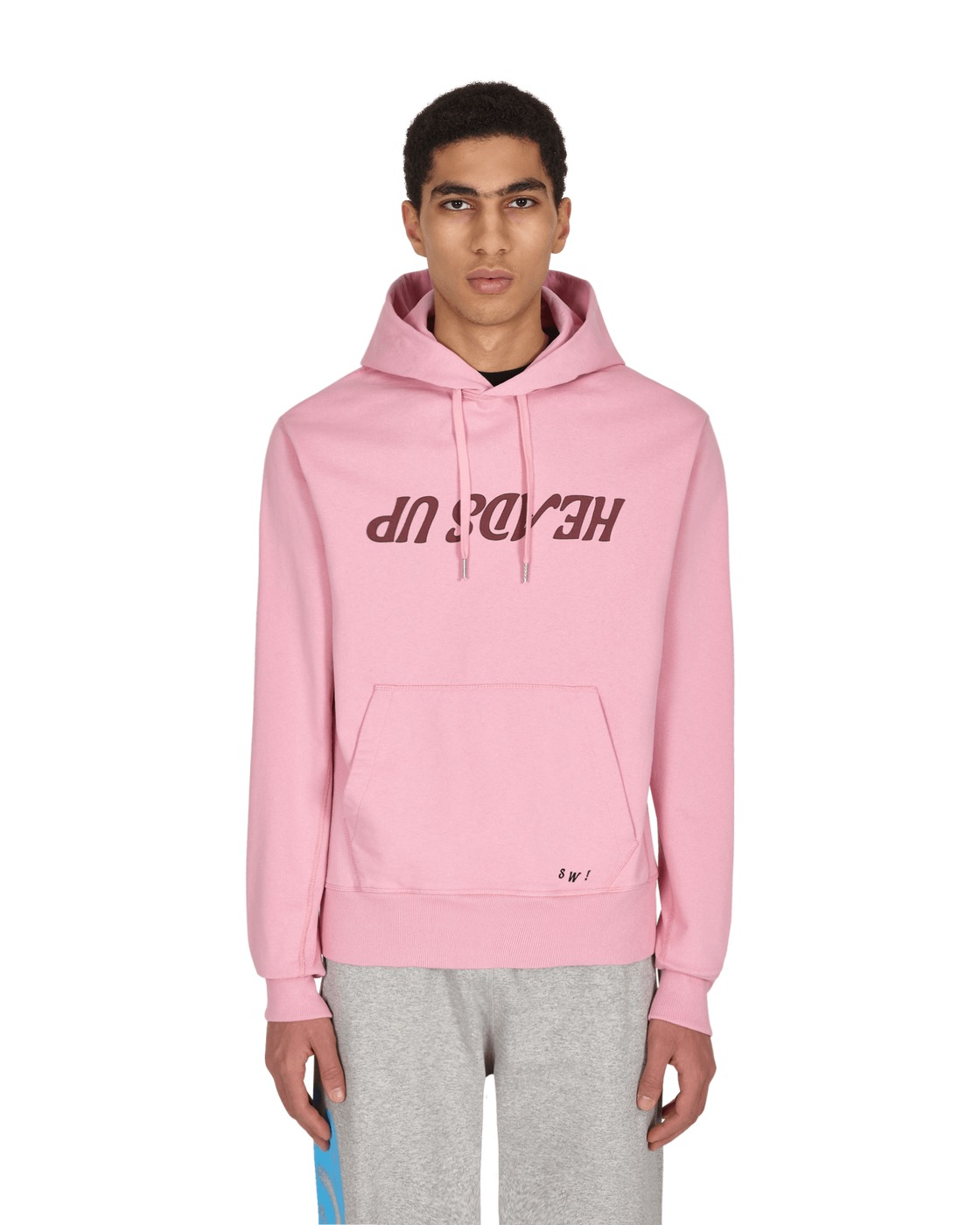 Photo: Helmut Lang Heads Up Hooded Sweatshirt Grasse Rose