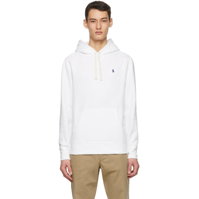Photo: Polo Ralph Lauren White Fleece Cabin Hoodie