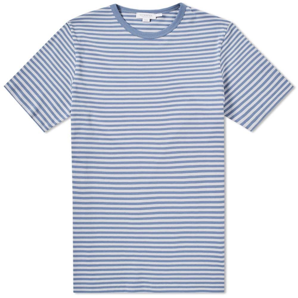 Sunspel English Stripe Tee Blue