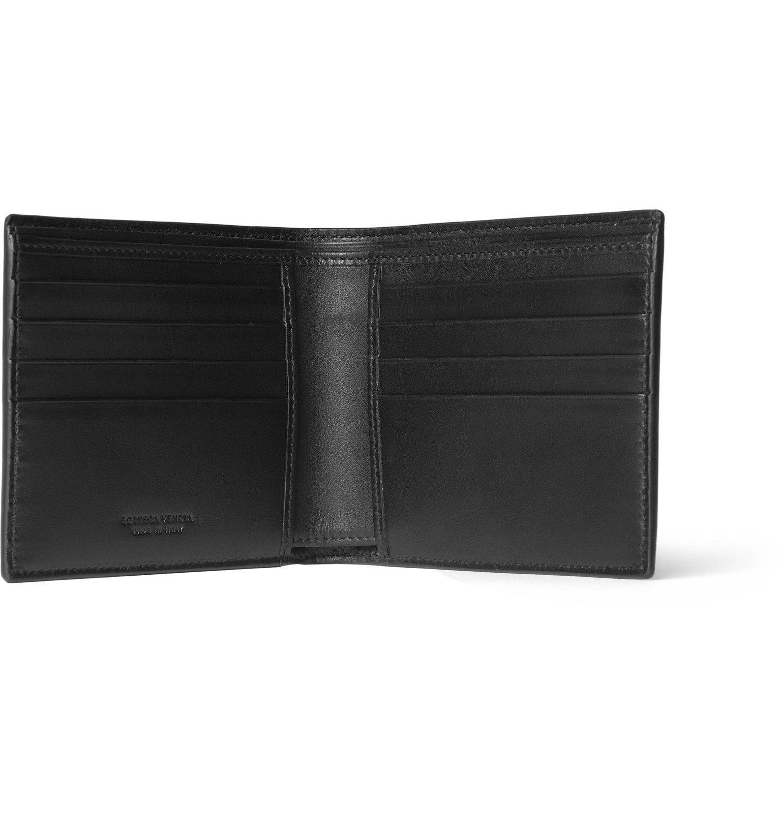 Bottega Veneta - Intrecciato Leather Billfold Wallet - Black