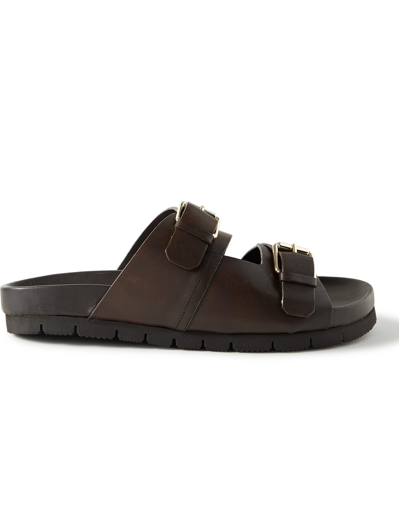 Photo: GRENSON - Florin Leather Slides - Brown - UK 5