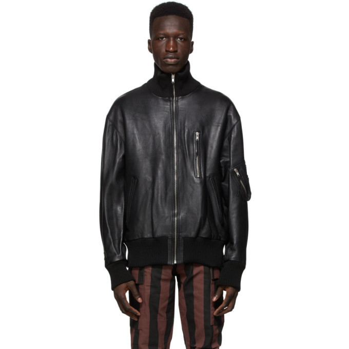 Photo: 032c Black Die Todliche Doris Edition Leather Flight Jacket