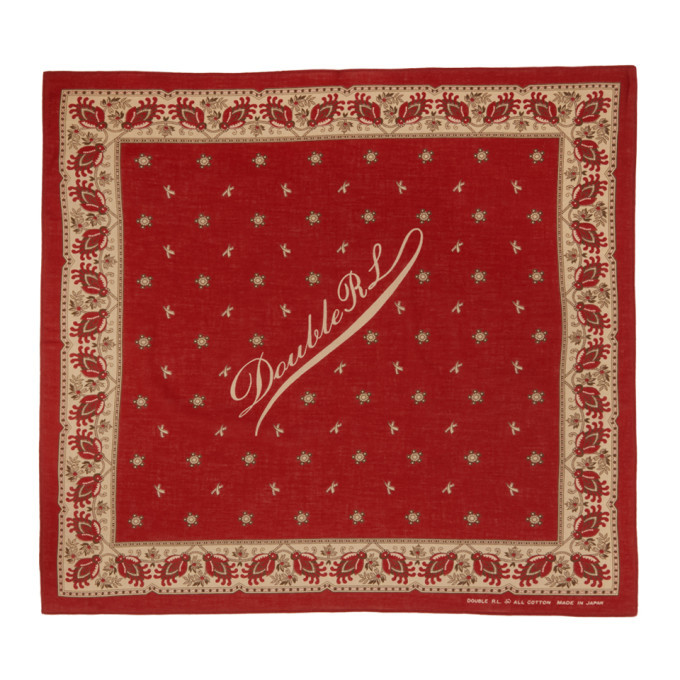 Photo: RRL Red Cotton Logo Bandana