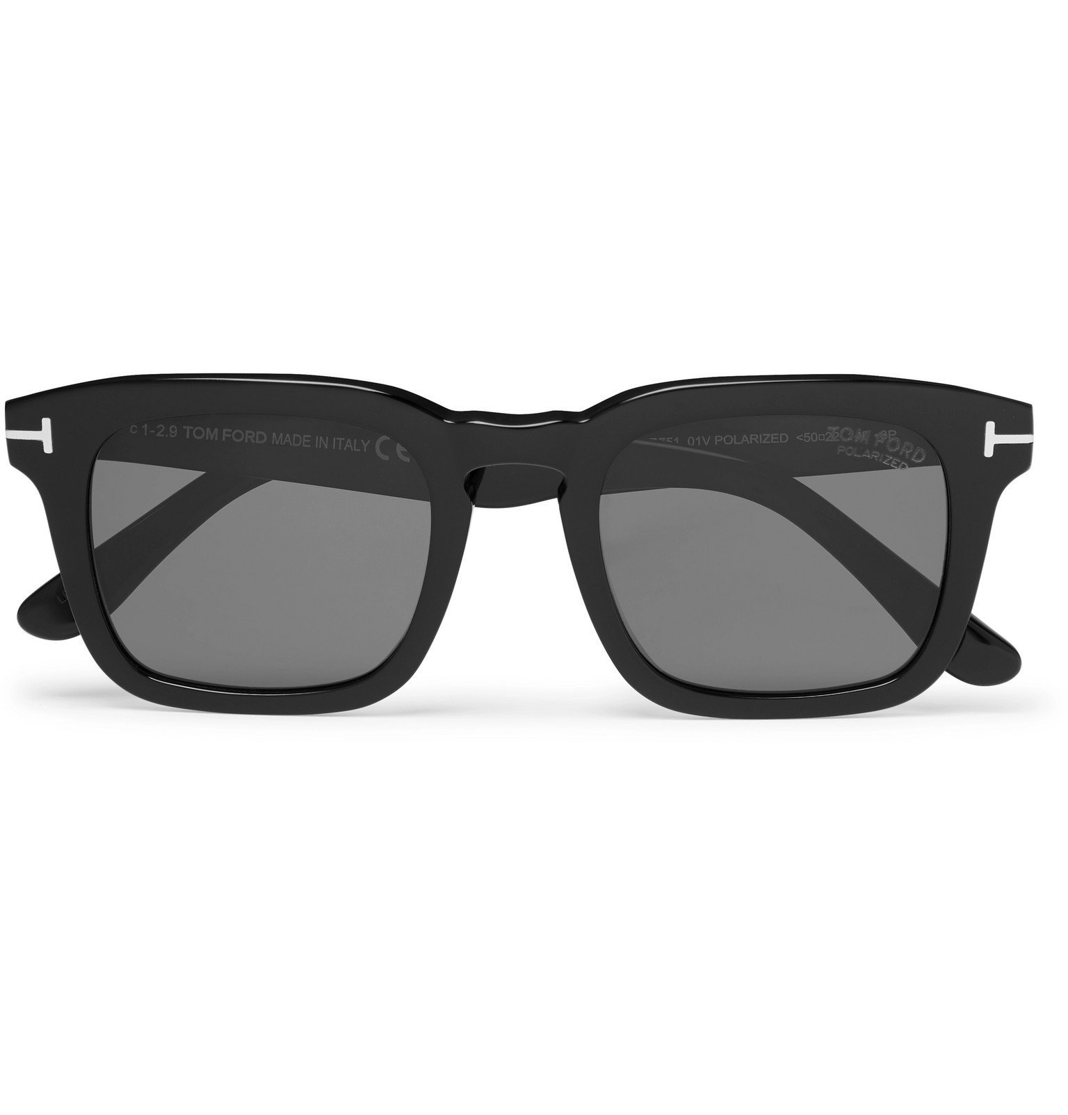 Photo: TOM FORD - Square-Frame Tortoiseshell Acetate Polarised Sunglasses - Black