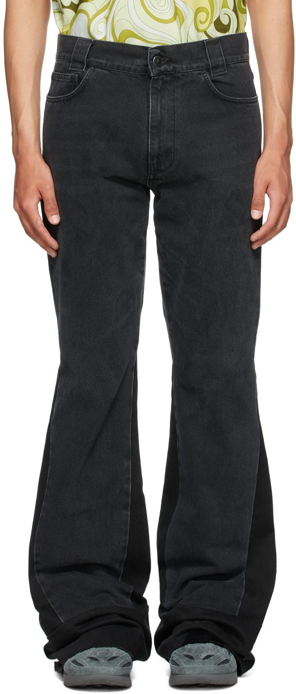Photo: Raf Simons Black Flared Workwear Jeans