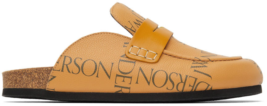 Photo: JW Anderson Tan Leather Print Loafers