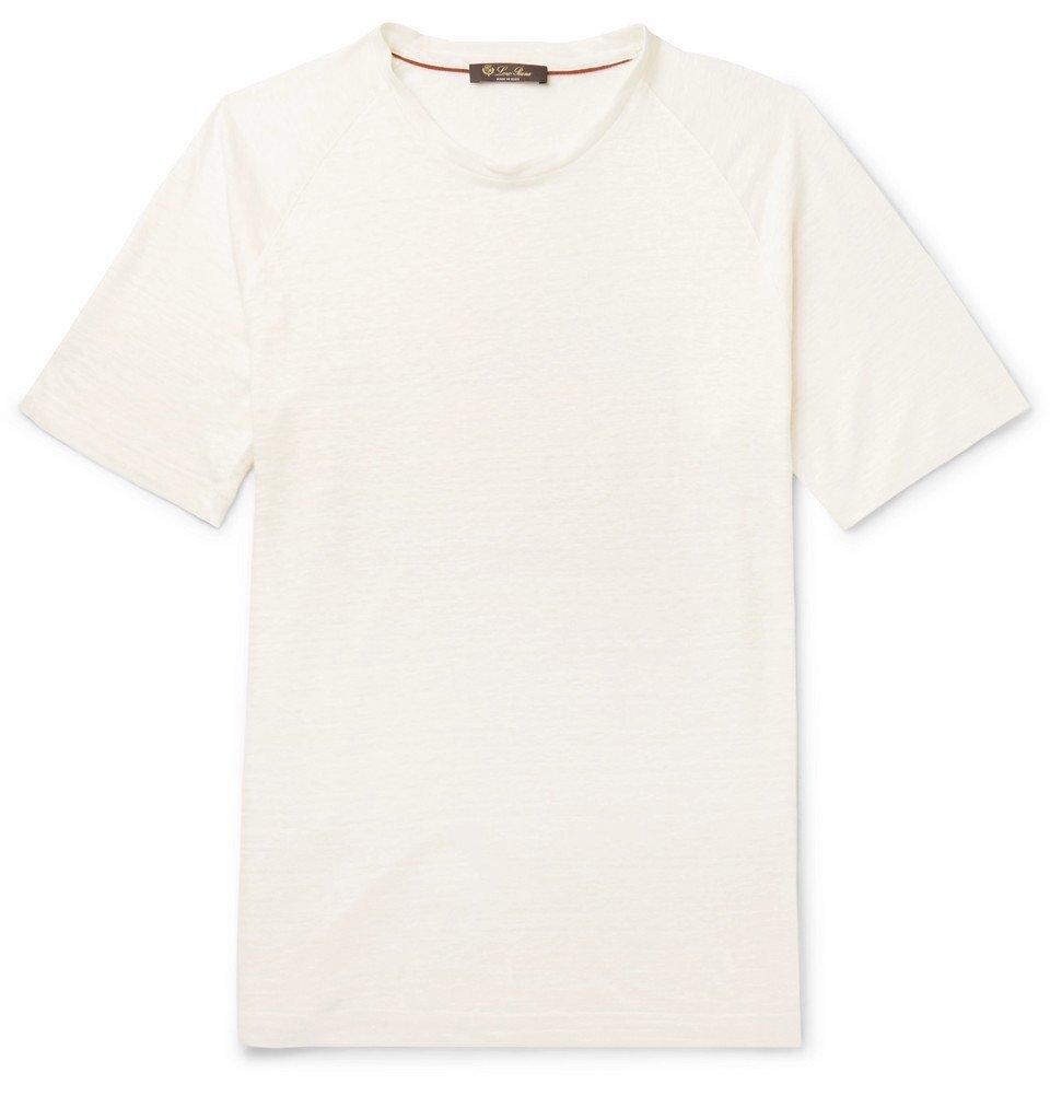Photo: Loro Piana - Linen-Jersey T-Shirt - White