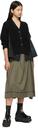 Sacai Khaki Poplin Suiting Skirt