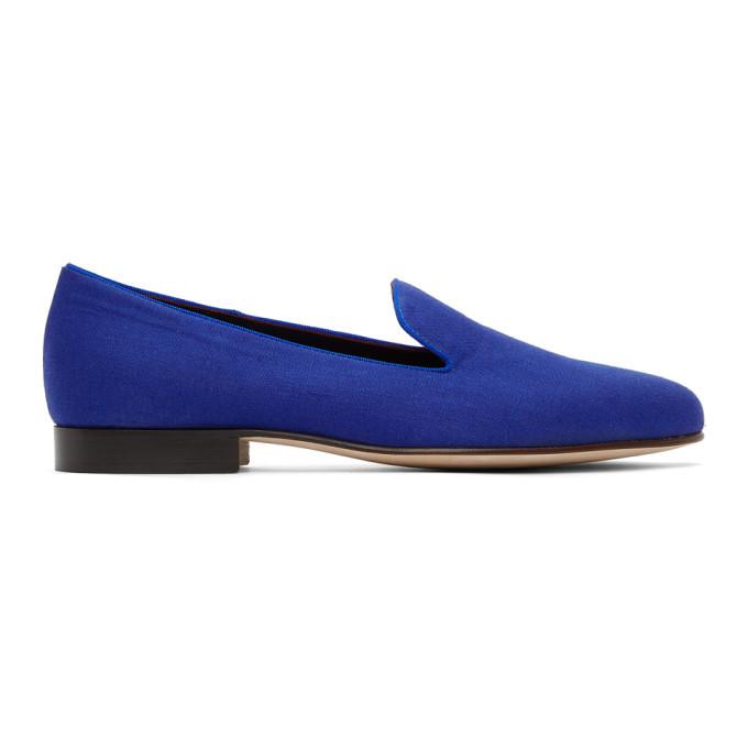 Photo: Ralph Lauren Purple Label Blue Linen Alonzo Slippers