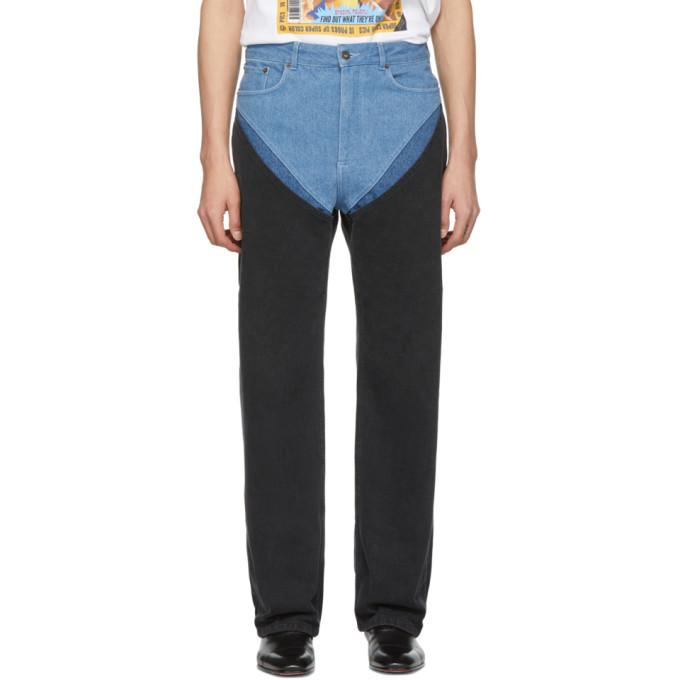 Photo: Y/Project Blue Cut-Outs Jeans