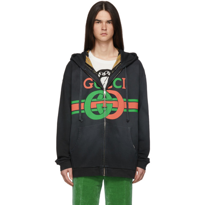 cacc34f3d39 Gucci Red Gucci Animalium Double Wolves Hoodie Gucci