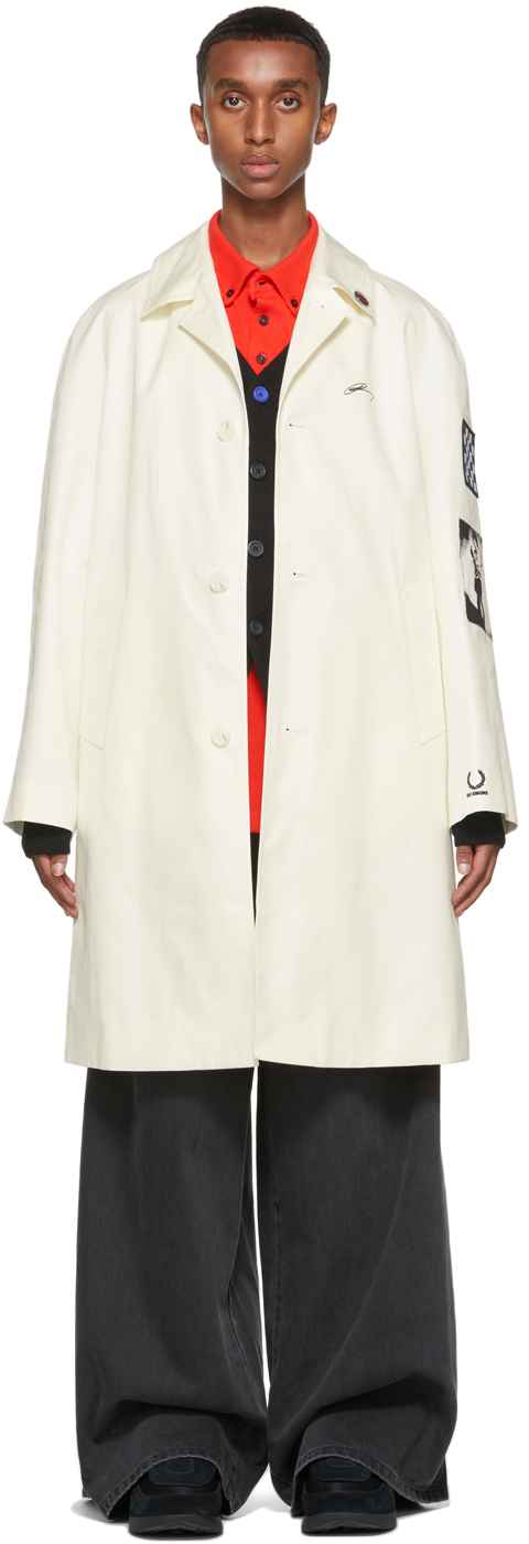 Photo: Raf Simons Off-White Fred Perry Edition Patch Coat
