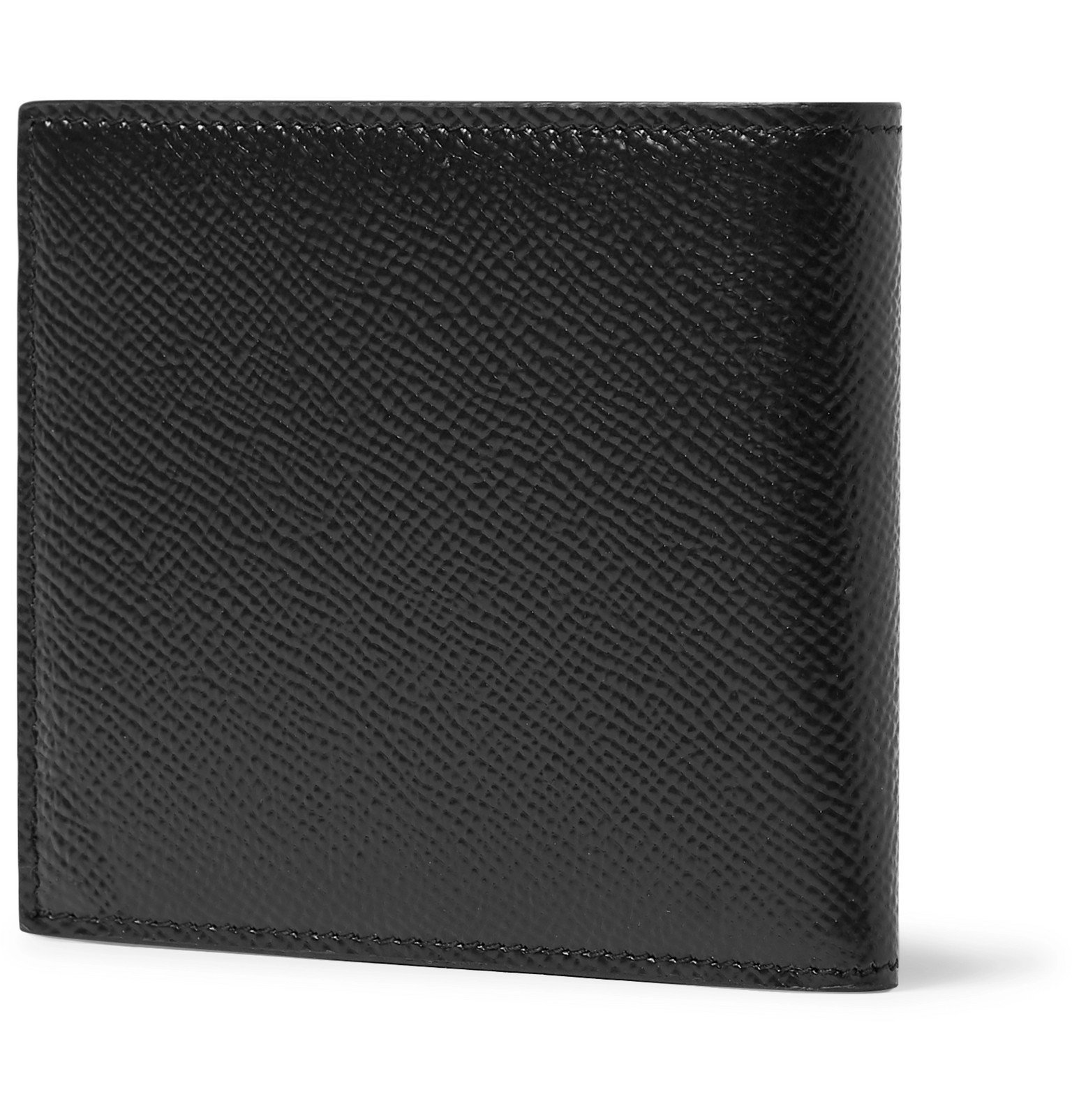 Dolce & Gabbana - Logo-Appliquéd Full-Grain Leather Billfold Wallet - Black