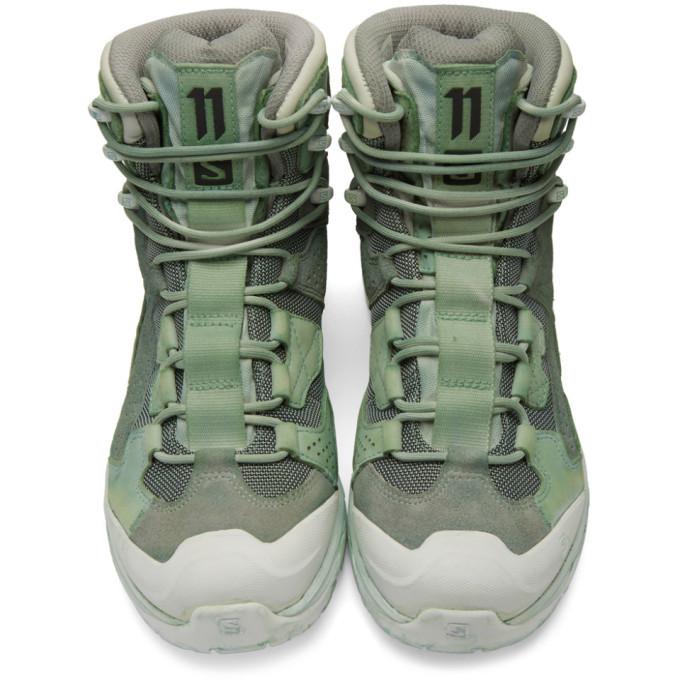 11 by Boris Bidjan Saberi Green Salomon Edition 2 GTX 11XS Boots