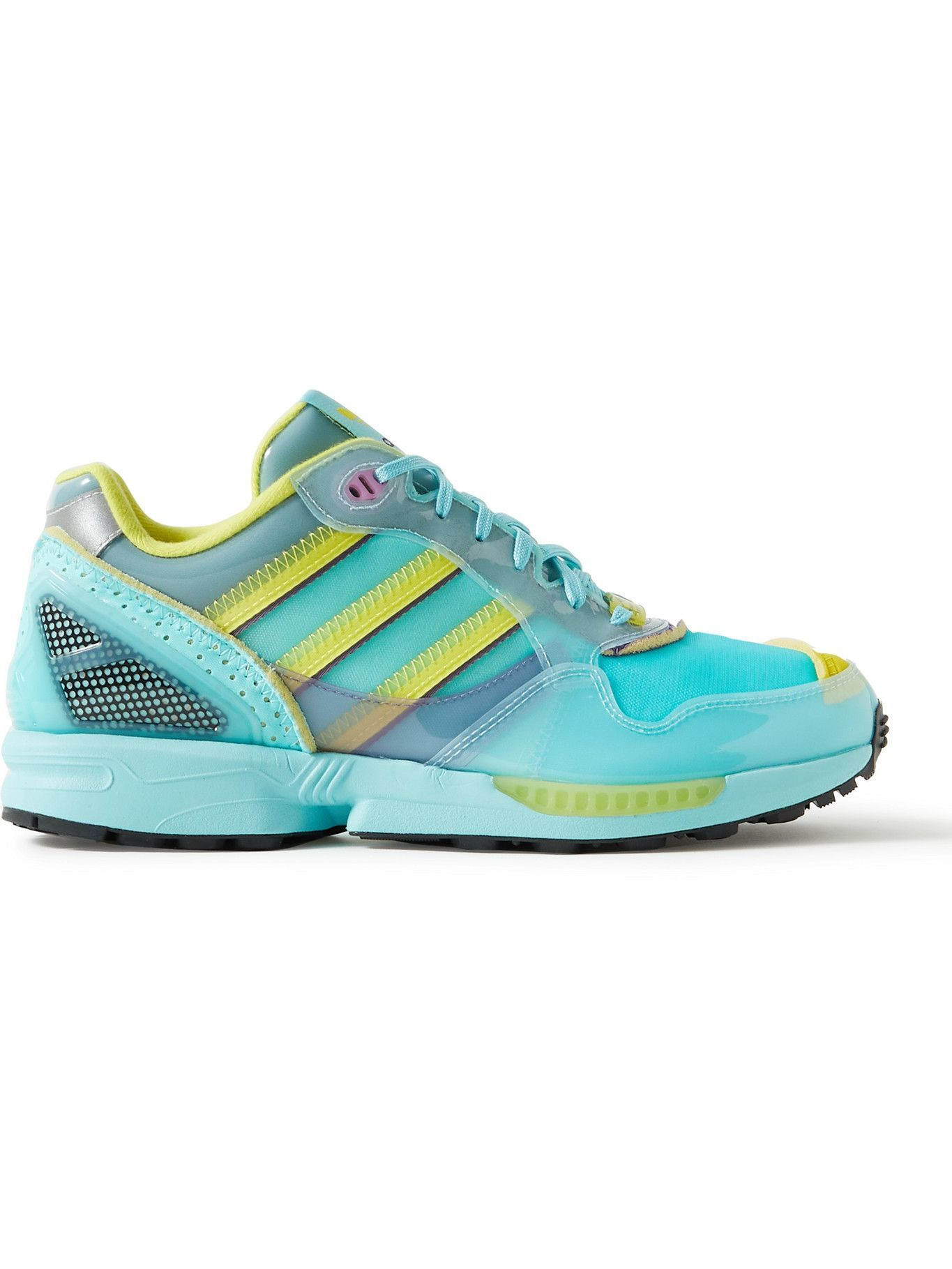 Photo: ADIDAS CONSORTIUM - XZ0006 Inside Out Rubber-Trimmed Mesh Sneakers - Blue