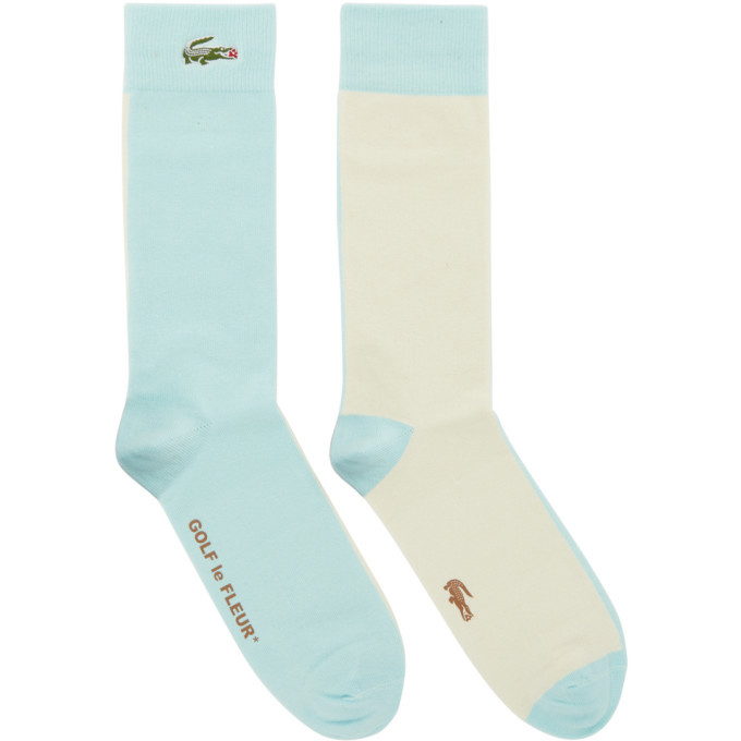 Photo: Lacoste Blue and Off-White Golf le Fleur* Edition Colorblocked Socks