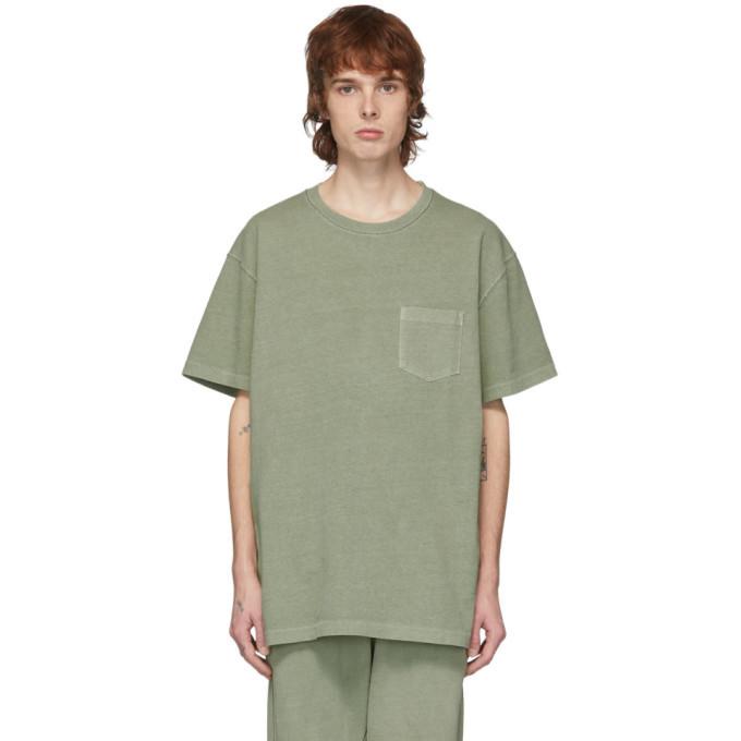 Photo: John Elliott Green Loose Stitch Pocket T-Shirt