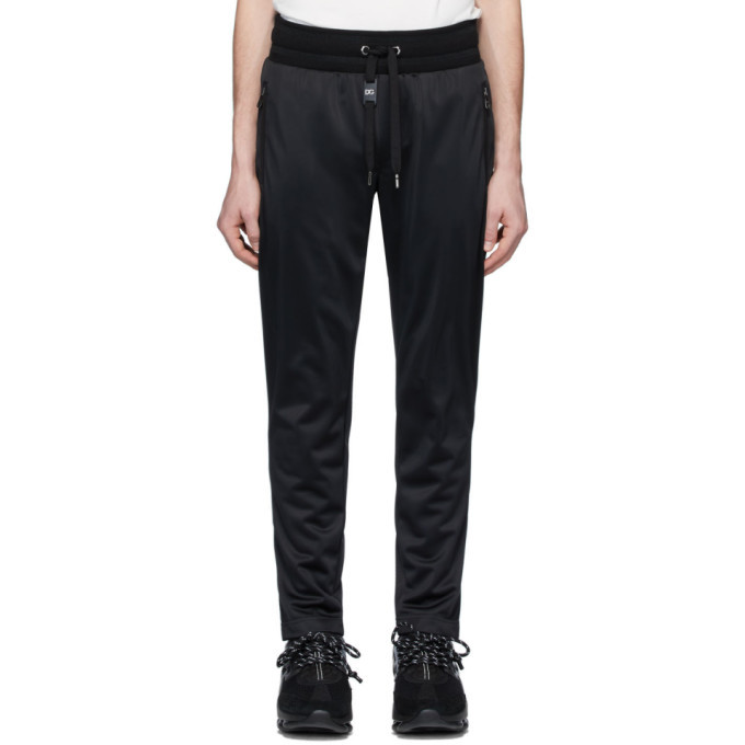 Photo: Dolce and Gabbana Black Jersey Track Pants