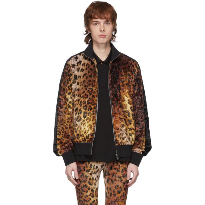 Photo: Versace Tan Leopard Bomber Jacket