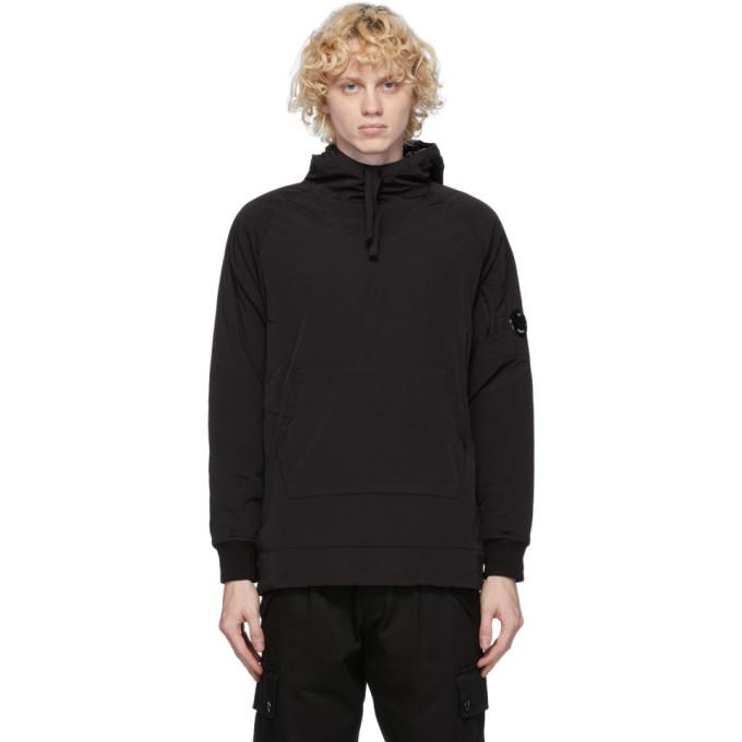 C.P. Company Black Nylon Hooded Jacket