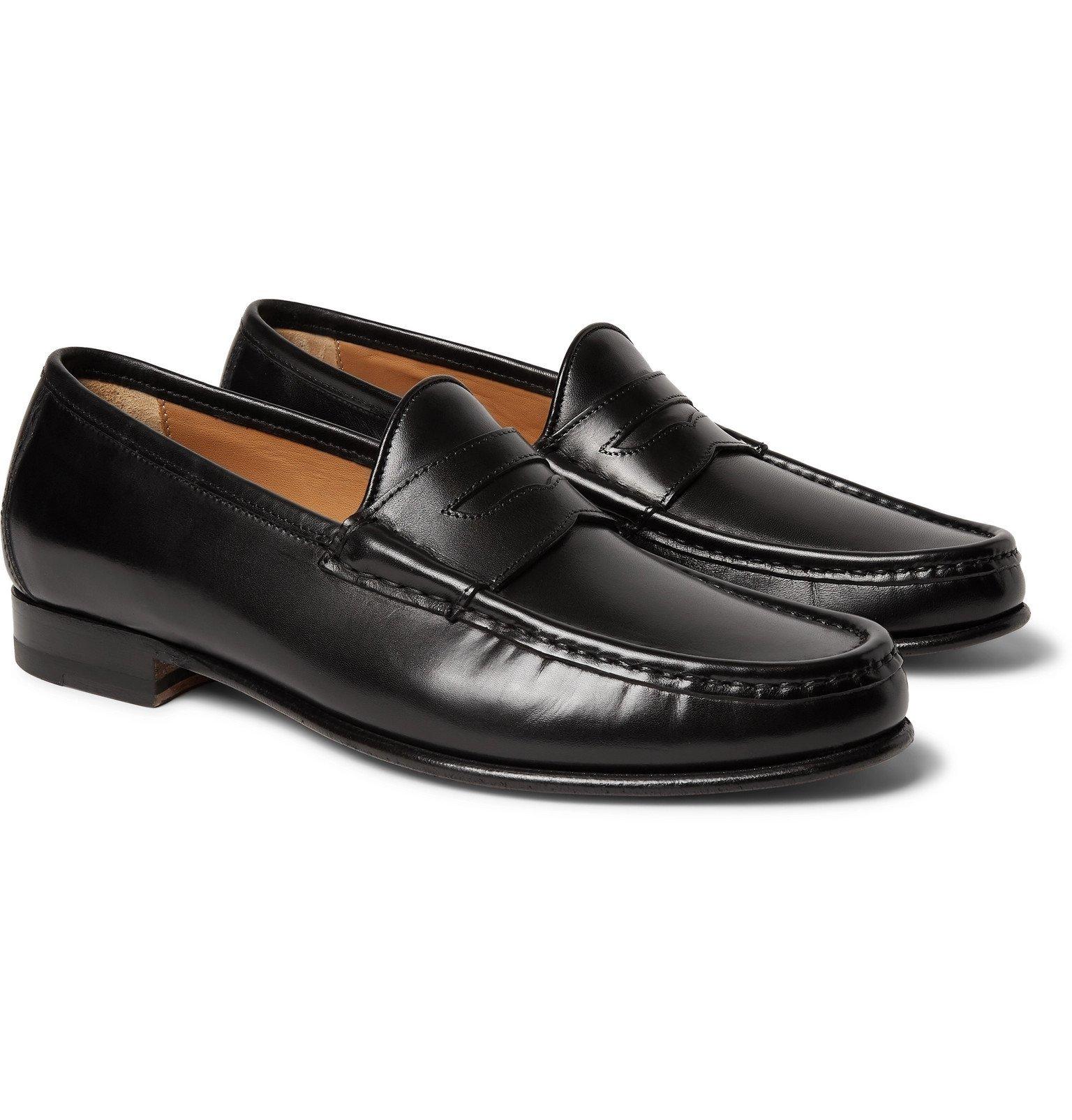 Photo: Yuketen - '70s Leather Penny Loafers - Black
