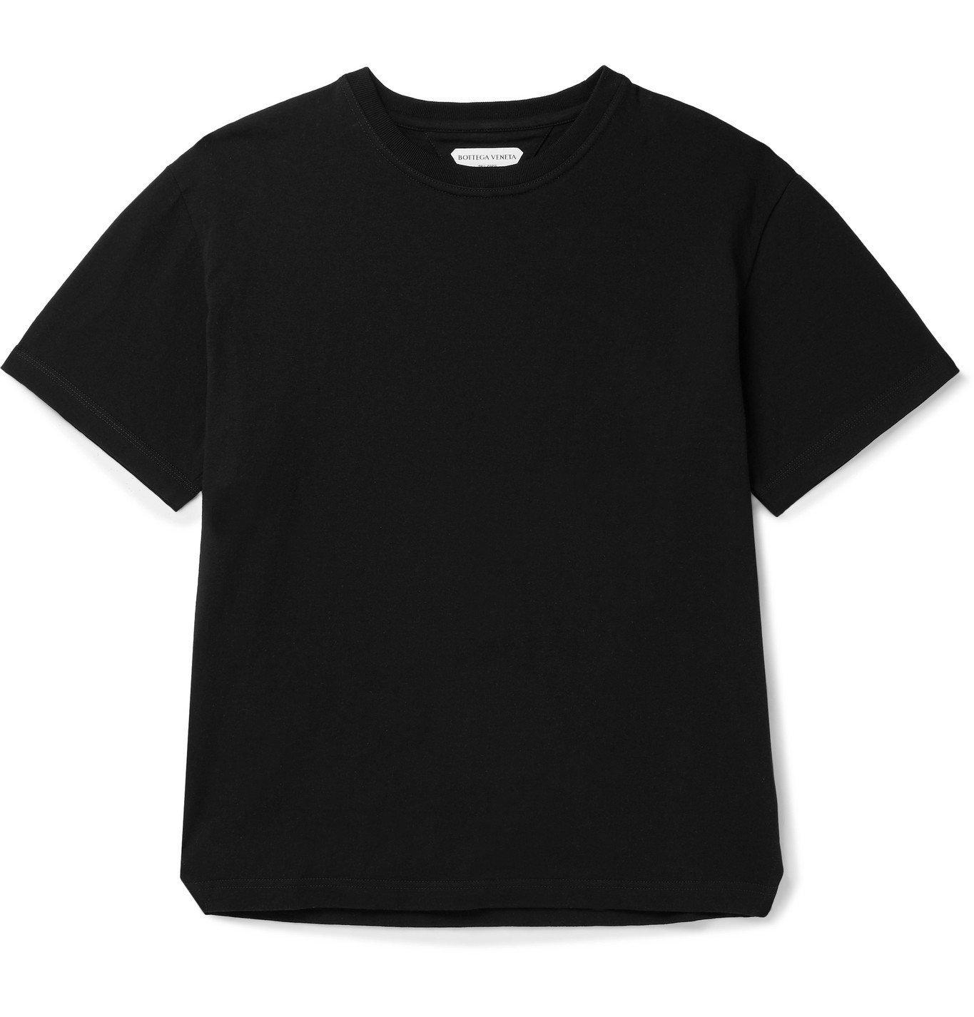 Photo: Bottega Veneta - Cotton-Jersey T-Shirt - Black