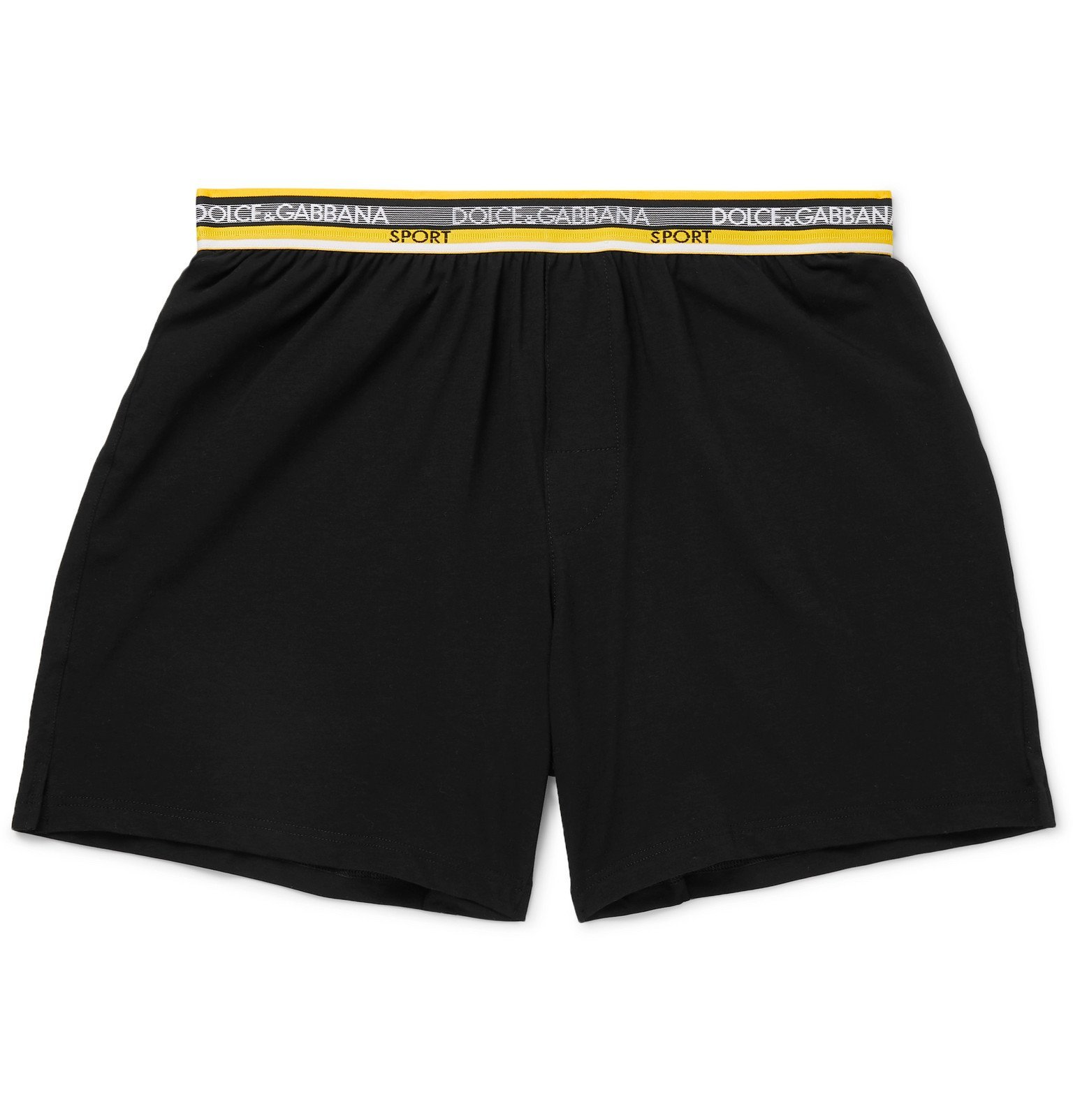 Photo: Dolce & Gabbana - Stretch-Cotton Shorts - Black