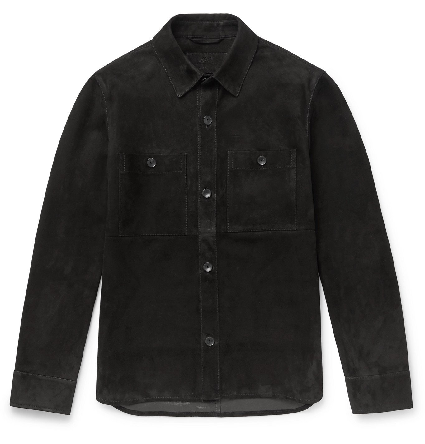 Photo: Mr P. - Suede Overshirt - Black