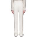 Max Mara White Linen Urlo Trousers