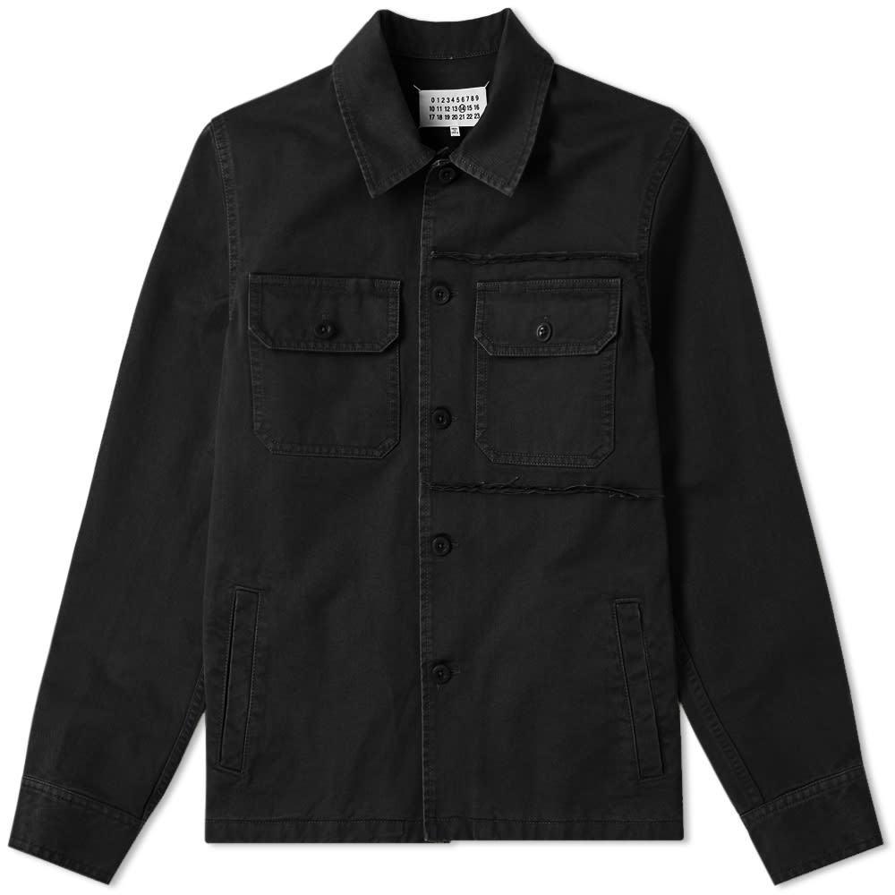 Photo: Maison Margiela 14 Distressed Shirt Jacket Black