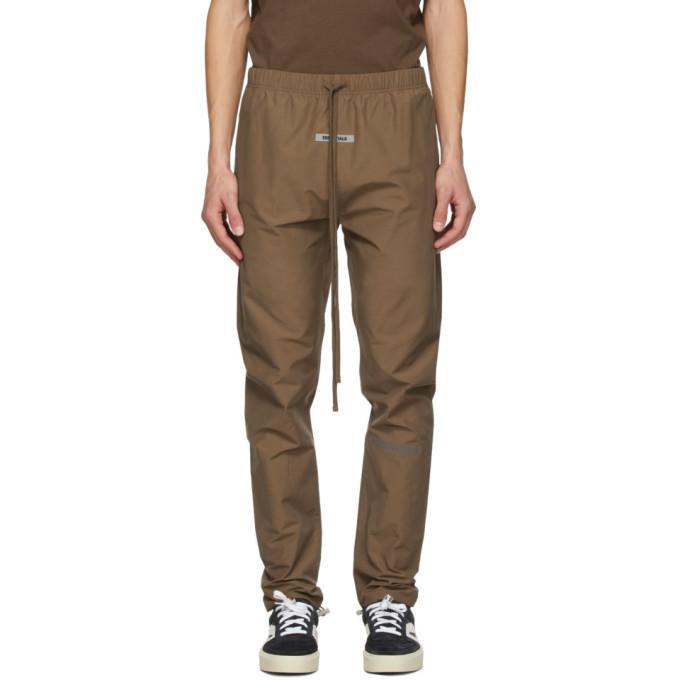Photo: Essentials SSENSE Exclusive Brown Nylon Track Pants