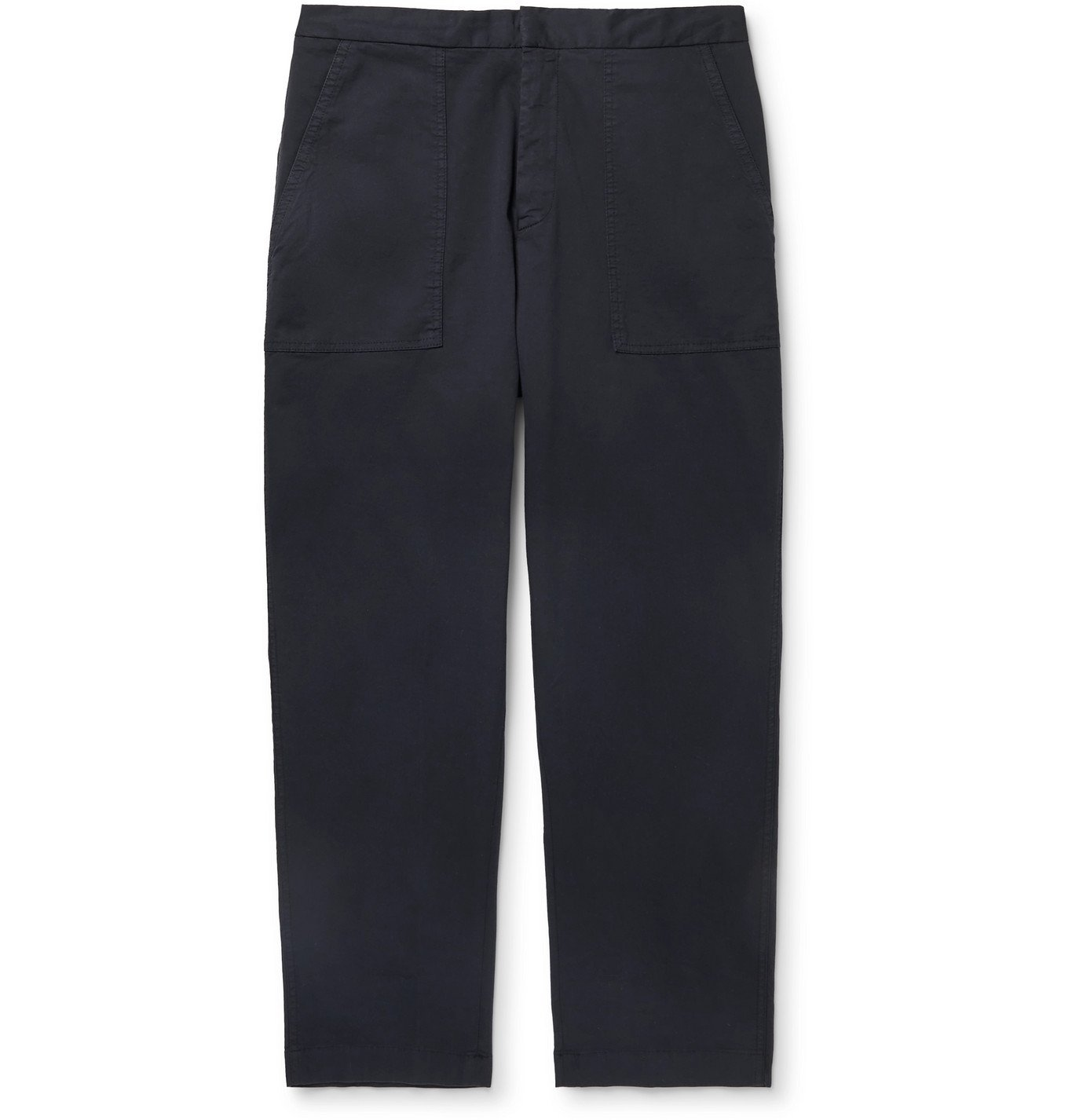 Photo: Officine Generale - Geron Tapered Wool-Twill Cargo Trousers - Blue