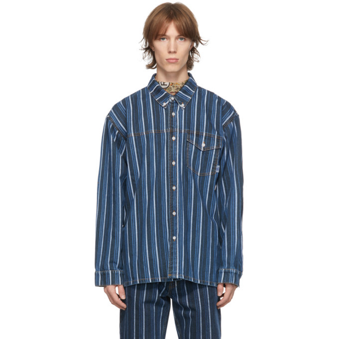 Martine Rose Black Denim Stripe Shirt