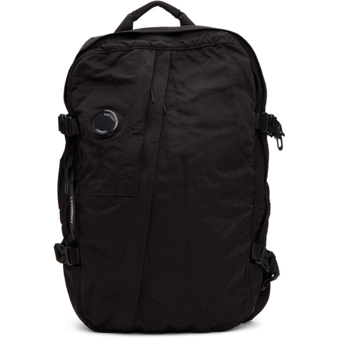 C.P. Company Black Nylon Mid Backpack