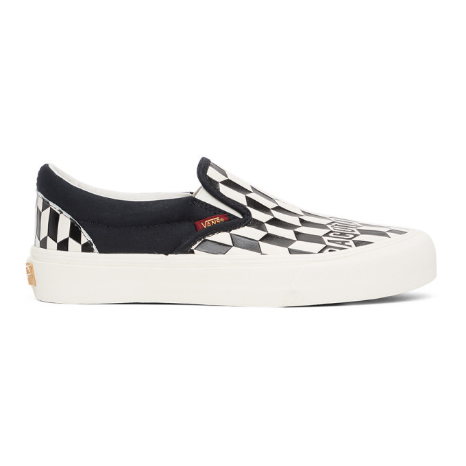 Photo: Vans Black and White Baractua Edition Classic Slip-On Sneakers