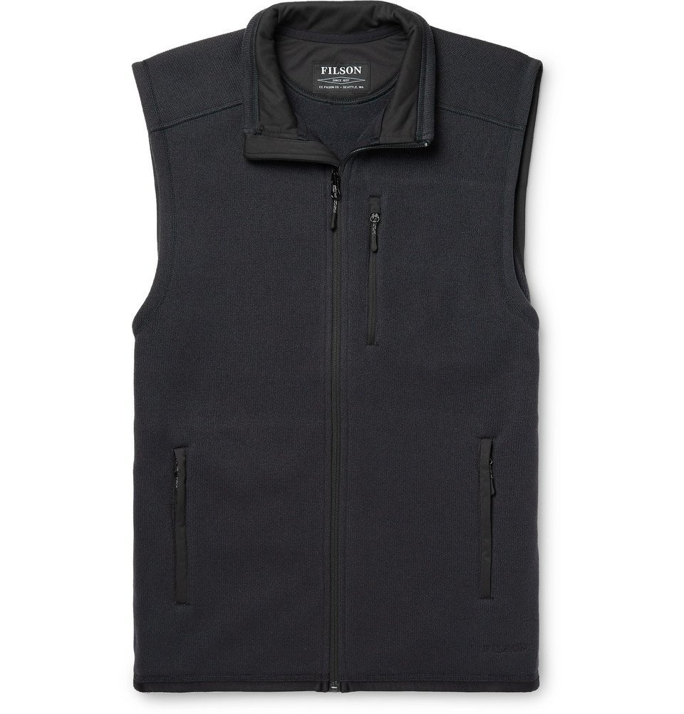 Photo: Filson - Ridgeway Polartec Fleece Gilet - Navy