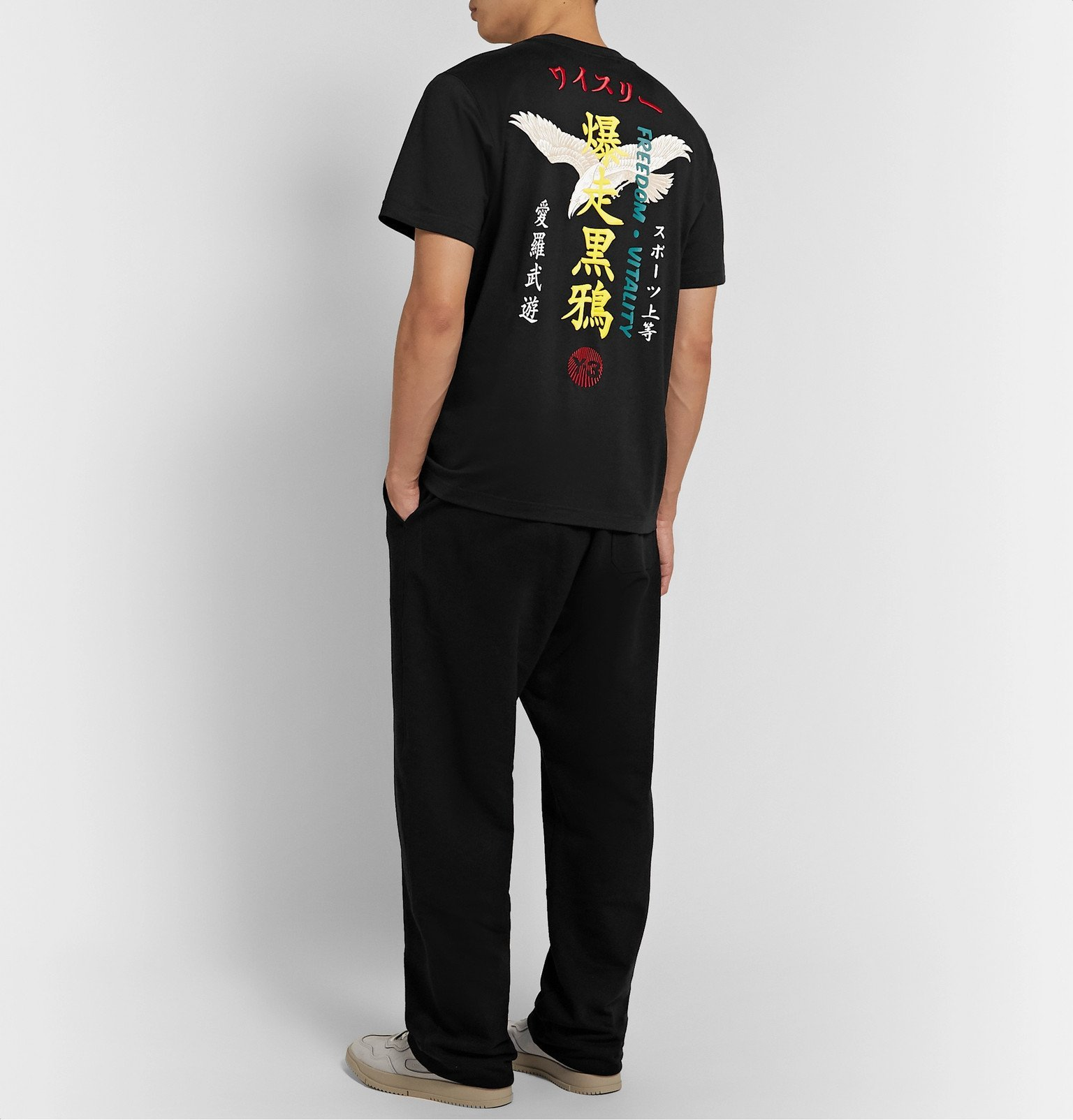 Y-3 - Embroidered Printed Cotton-Jersey T-Shirt - Black