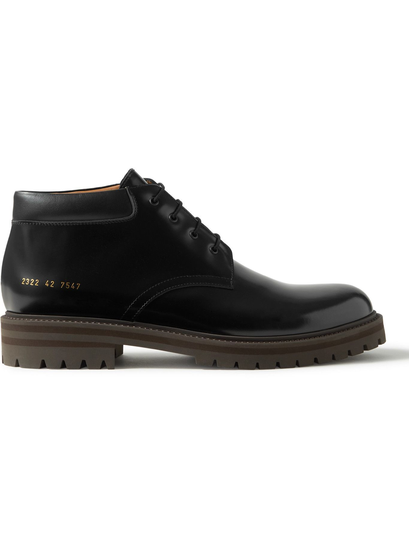 Photo: Common Projects - Combat Derby Leather Boots - Black