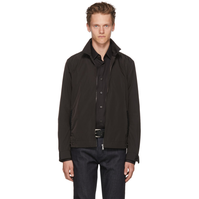 Bottega Veneta Black Intrecciato Trim Jacket