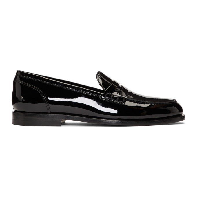 Photo: Balmain Black Patent Michael Loafers