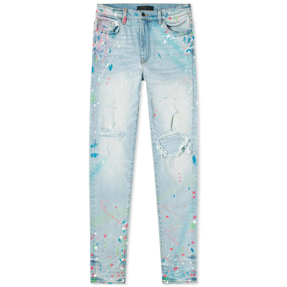Photo: AMIRI Graffiti Jean Super Light Indigo