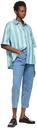 Martine Rose Blue Duel Short Sleeve Shirt