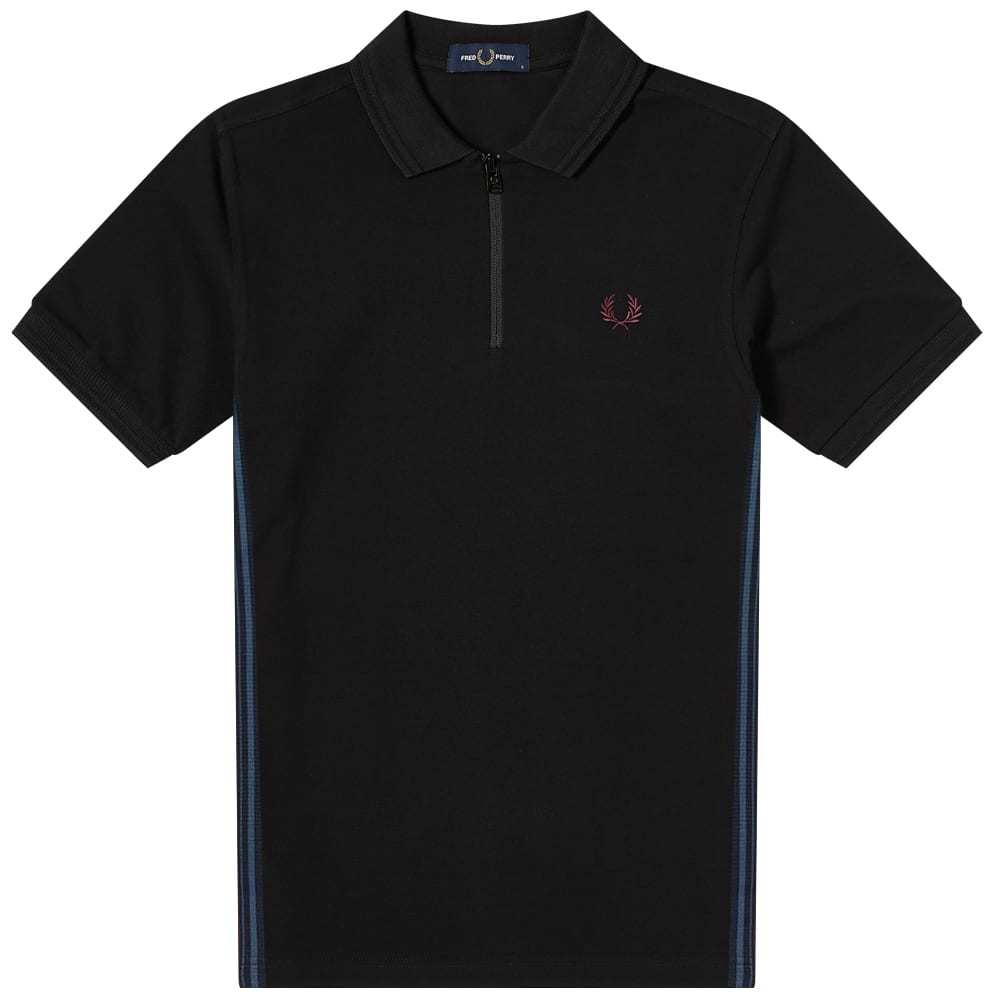 Photo: Fred Perry Authentic Taped Zip Polo