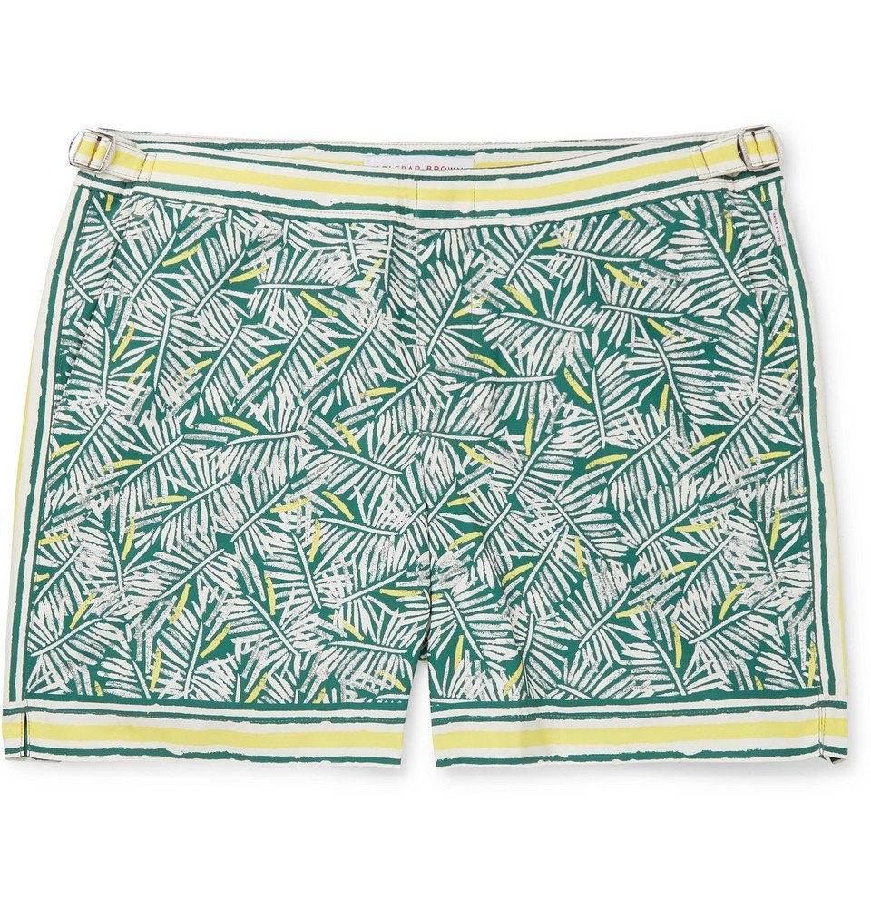 Photo: Orlebar Brown - Bulldog Mid-Length Printed Swim Shorts - Green