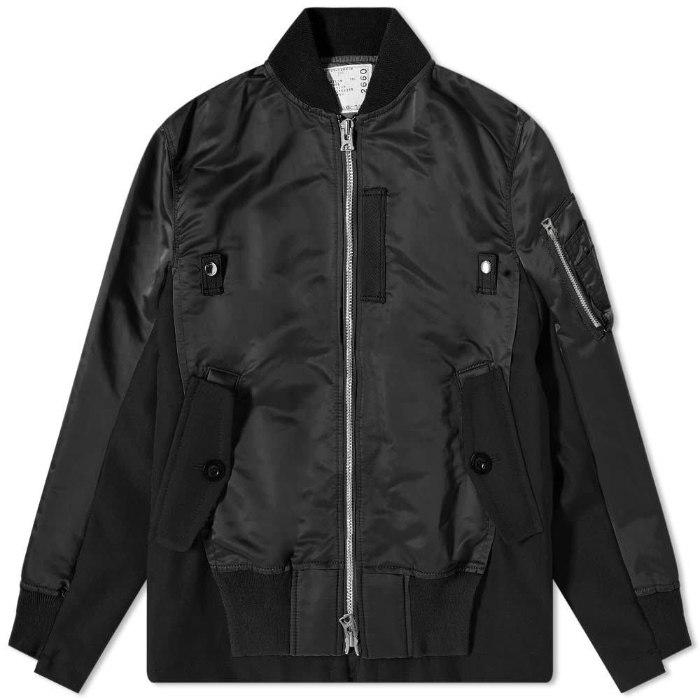 Photo: Sacai Wool And Nylon Ma-1 Jacket